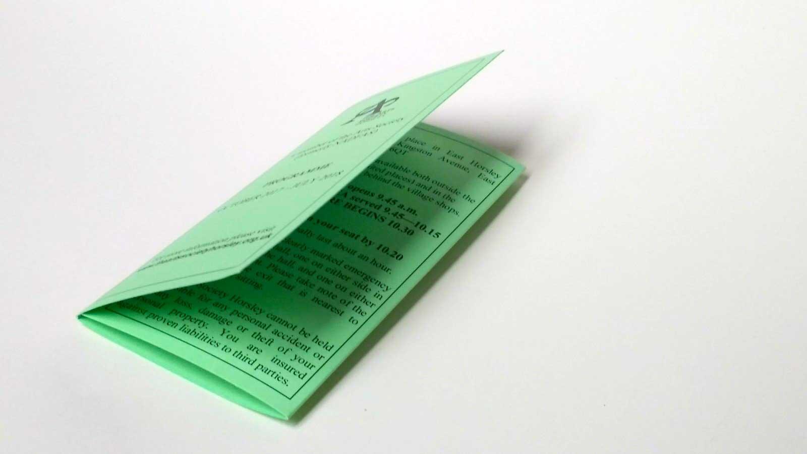 C Fold Leaflet
