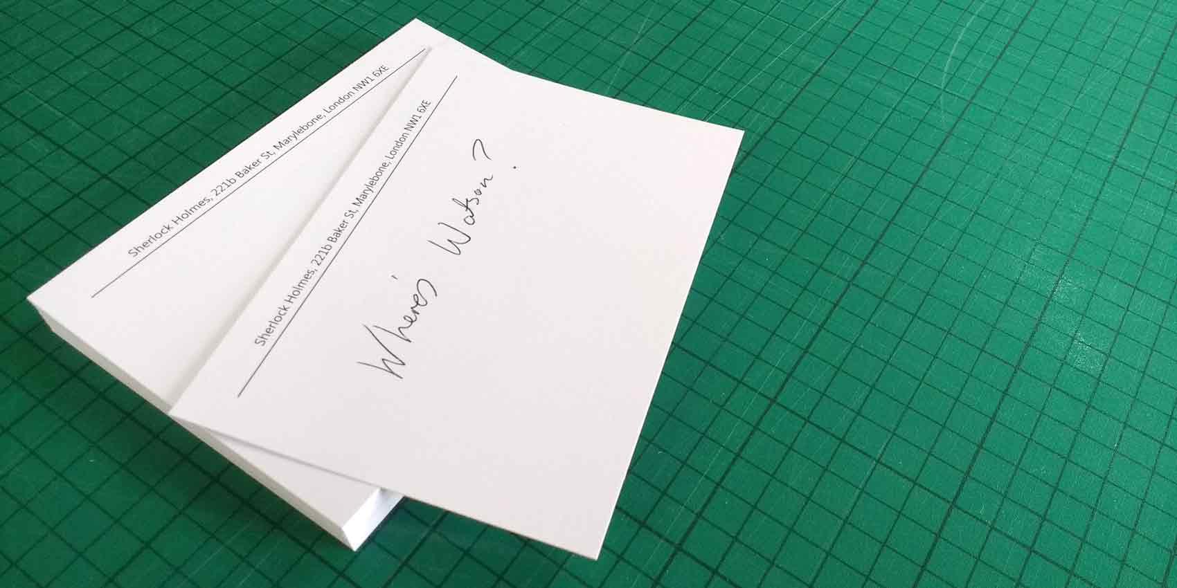 Headed Card Written On