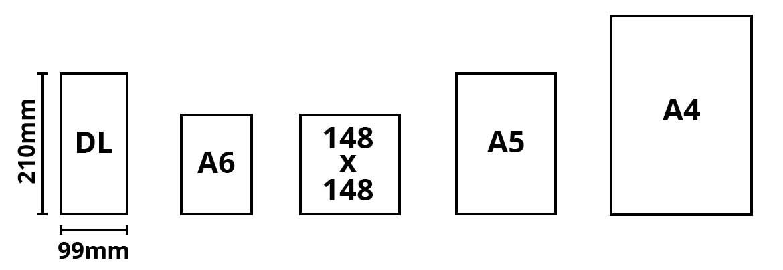 Leaflet Page Sizes